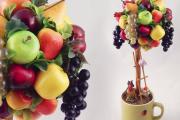 Фото 37 Топиарий из фруктов: мастер-класс по созданию аппетитного шедевра своими руками
