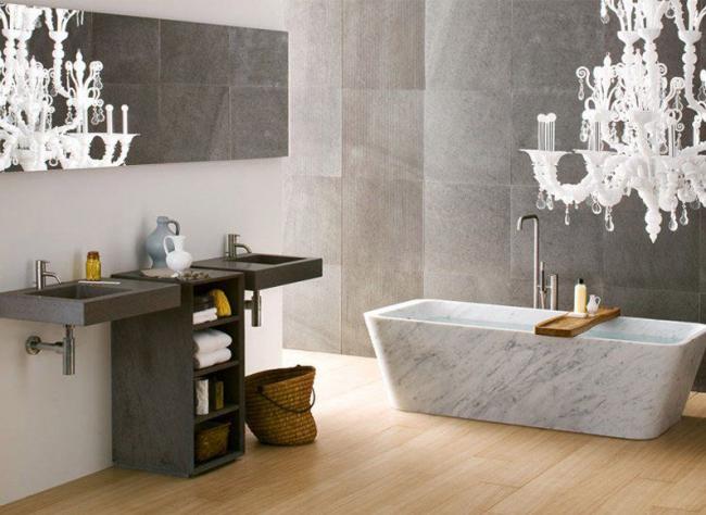 Традиционная ванная комната в современном исполнении