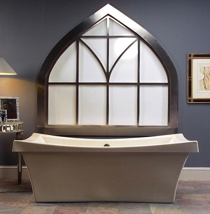 Ванна из литьевого мрамора: 80 роскошных моделей
