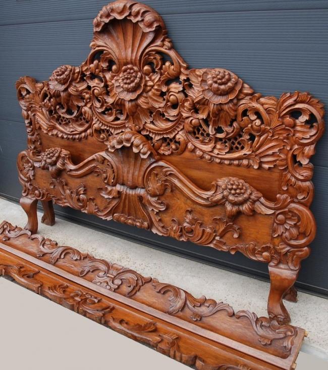 Оригинальная декоративная спинка кровати