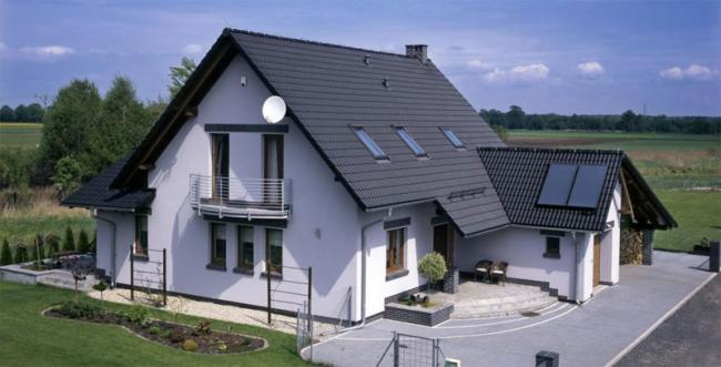 Двускатная крыша
