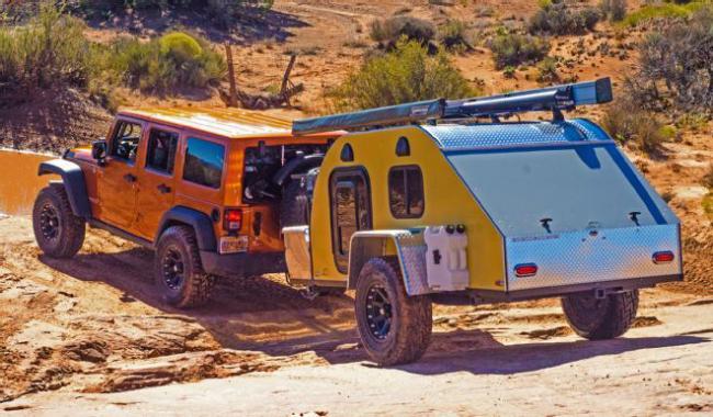 Прицепы-палатки очень удобны в транспортировке