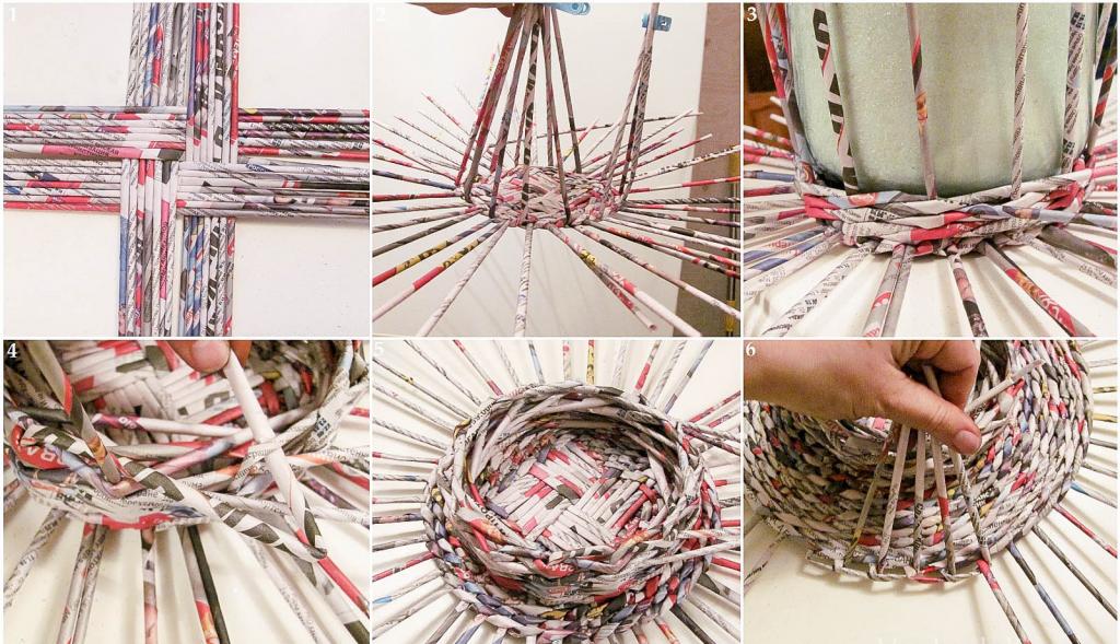 Плетение корзин из газетных трубочек Мастер-классы