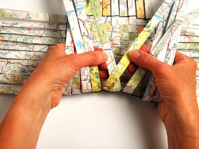 Плетение квадратной корзины
