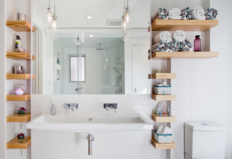 Полка навесная для ванной своими руками