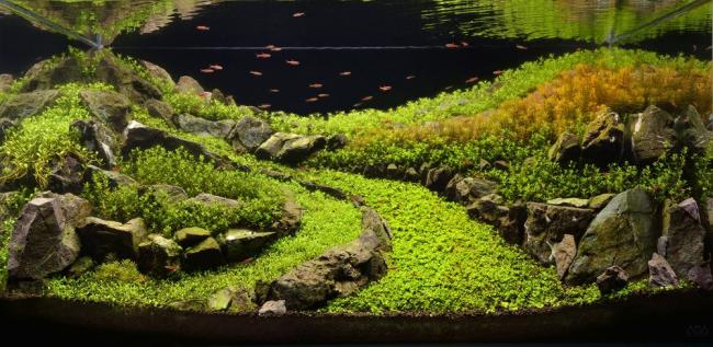 Подводная дорога вдоль холмов