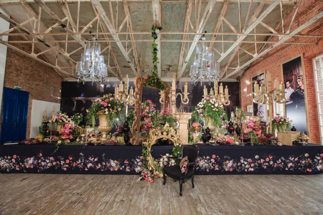 Свадебная витринистика - создание фантастического простора из искусственных элементов
