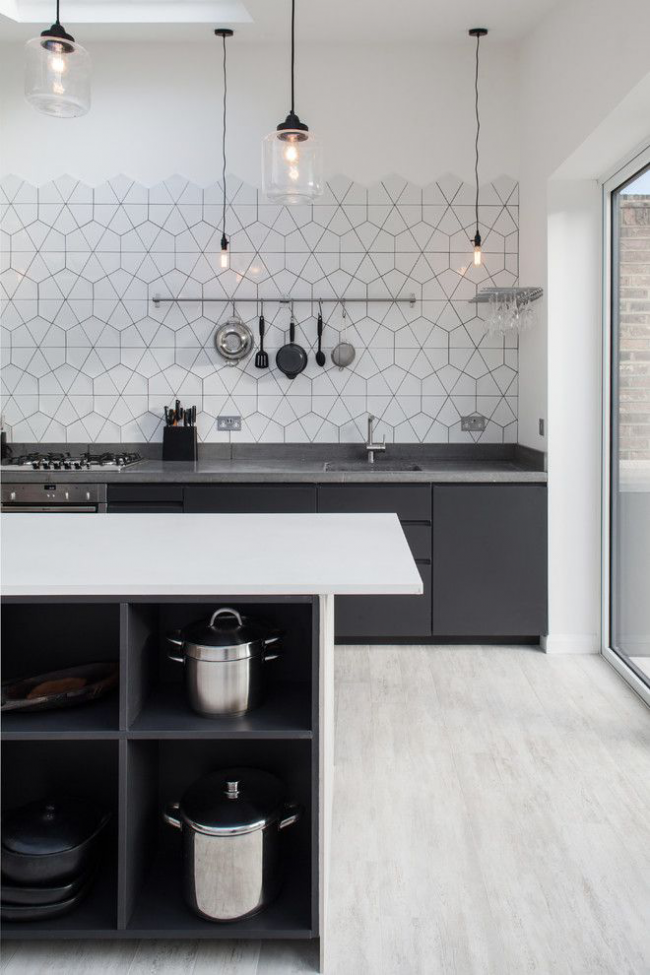 Современное оформление кухонной рабочей зоны