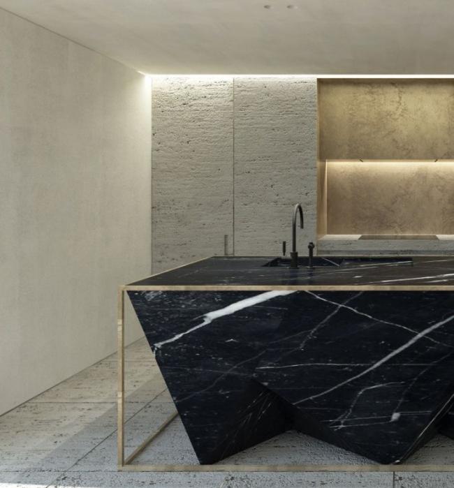 Покрытие для пола и стен, имитирующее натуральный камень