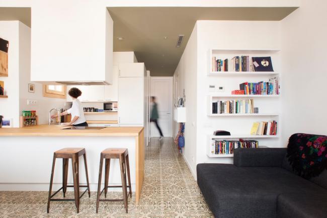 Небольшая зона отдыха возле кухни