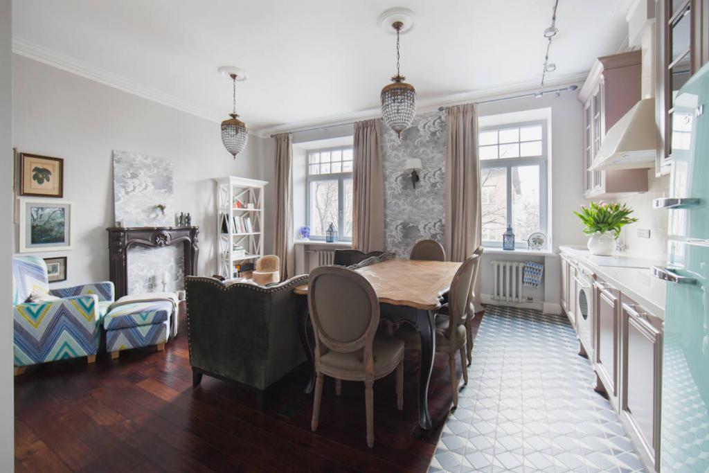 Плитка на пол на кухню: 60 интерьеров Как выбрать и укладка