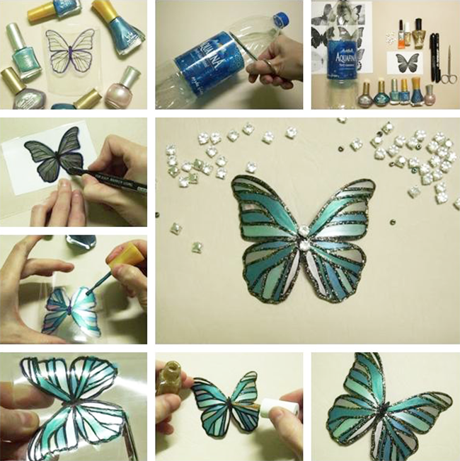 Пошаговая инструкция изделия в виде бабочки