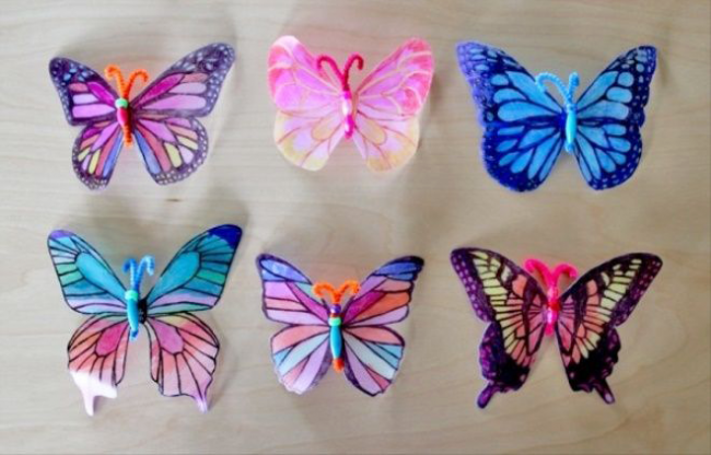 Как бабочку своими руками большую