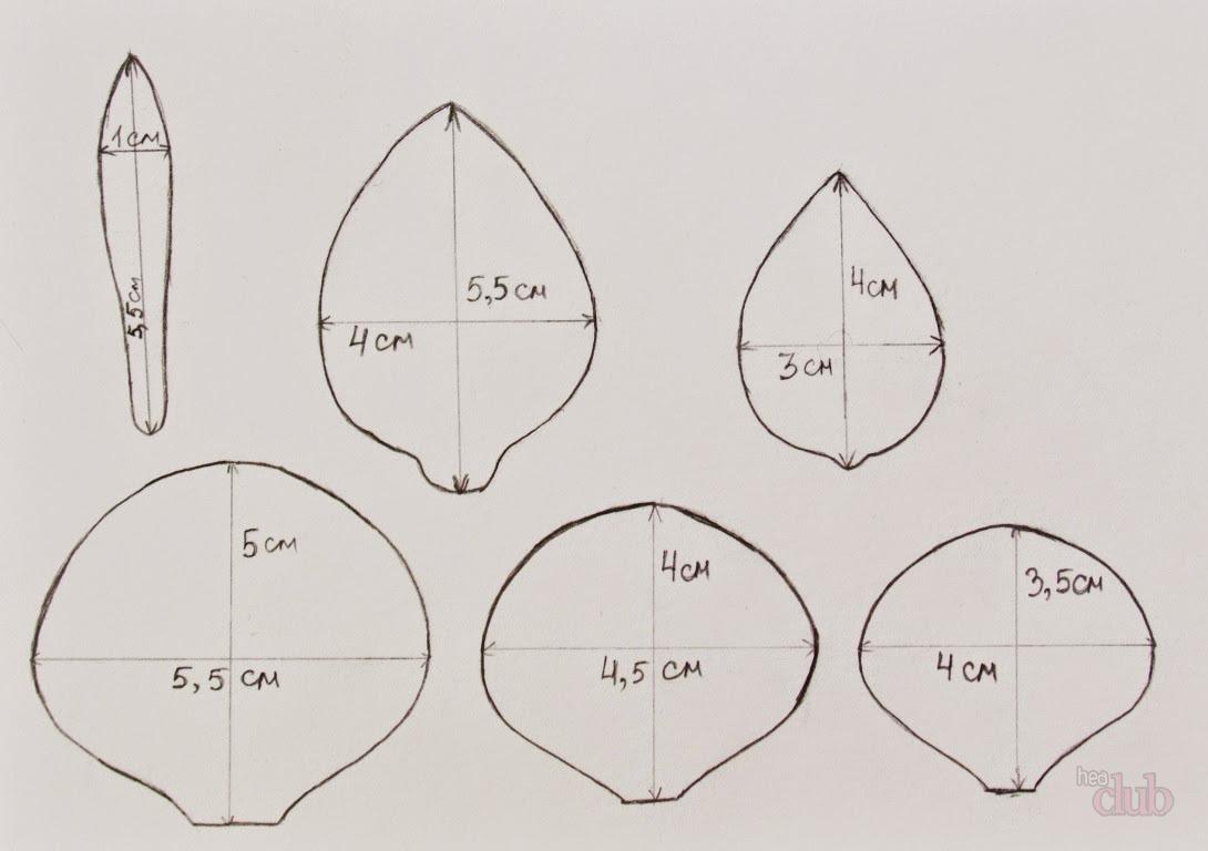 Как сделать розу из фоамирана выкройки фото 331