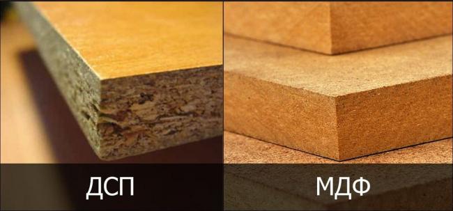 Разница структуры ДСП и МДФ