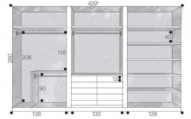 Готовая конструкция мебели на заказа