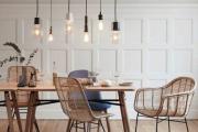 Фото 17 Лофтовая роскошь: обзор лаконичных идей с ретро-лампами Эдисона в интерьере