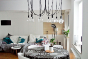 Фото 23 Лофтовая роскошь: обзор лаконичных идей с ретро-лампами Эдисона в интерьере