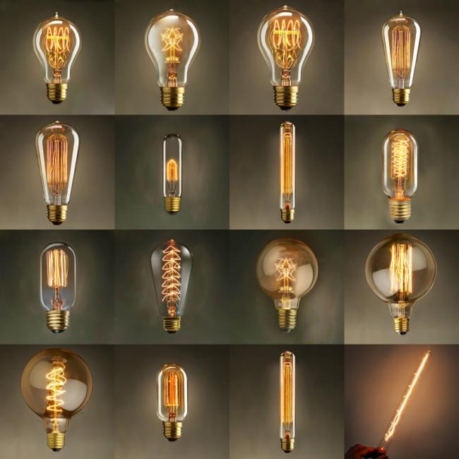 При желании можно найти лампочки на любой вкус и под любой интерьер