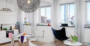 Интерьер однокомнатной квартиры 40 кв. метров: все тонкости зонирования и подбора мебели фото