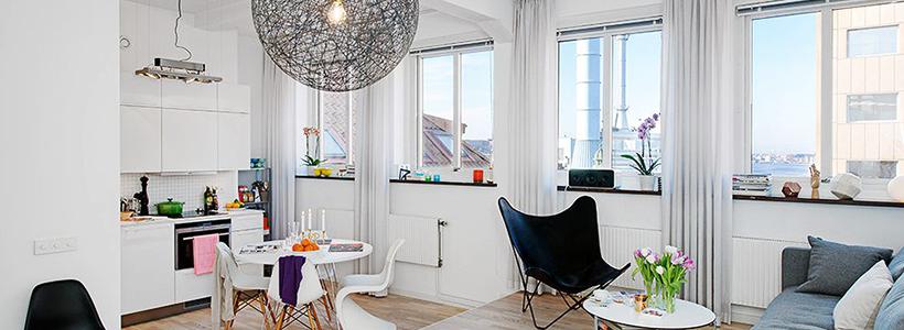 Интерьер однокомнатной квартиры 40 кв. метров: все тонкости зонирования и подбора мебели