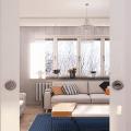 Воздушные и легкие внешне, но очень прочные и долговечные: зонируем пространство однокомнатной квартиры с помощью стеклянных перегородок фото
