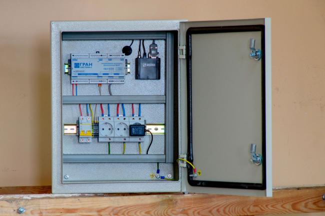 Шкаф автоматизированной системы контроля и учета энергетических ресурсов