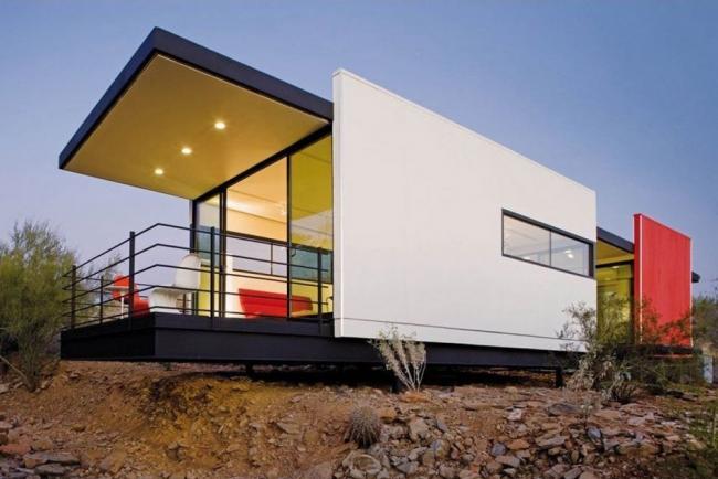Красивое сочетание цветов в дизайне фасада