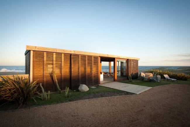 Стильный загородный дом модульного типа
