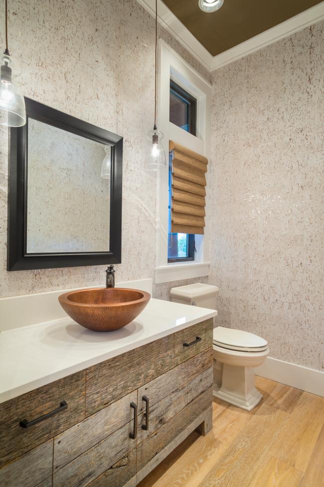 Отделка ванной комнаты Green Board панелями