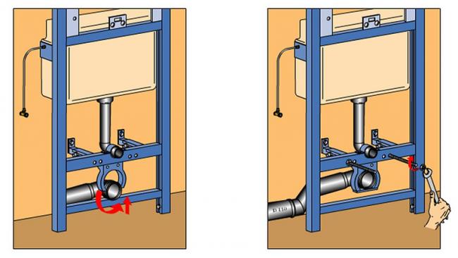 Подключение бочка и канализации