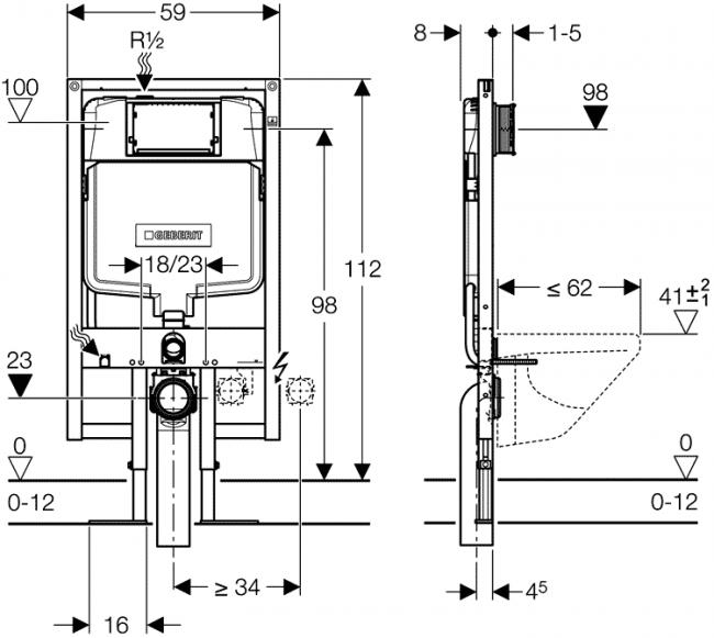 Схема сборки рамной модели