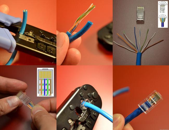 Обжимка сетевого кабеля