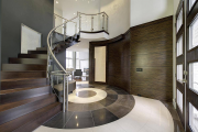 Фото 18 Отделка лестницы в частном доме: 60+ роскошных идей декора, покрытий и облицовки