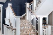 Фото 21 Отделка лестницы в частном доме: 60+ роскошных идей декора, покрытий и облицовки