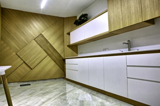 Интересное оформление стен деревом станет изюминкой любого помещения