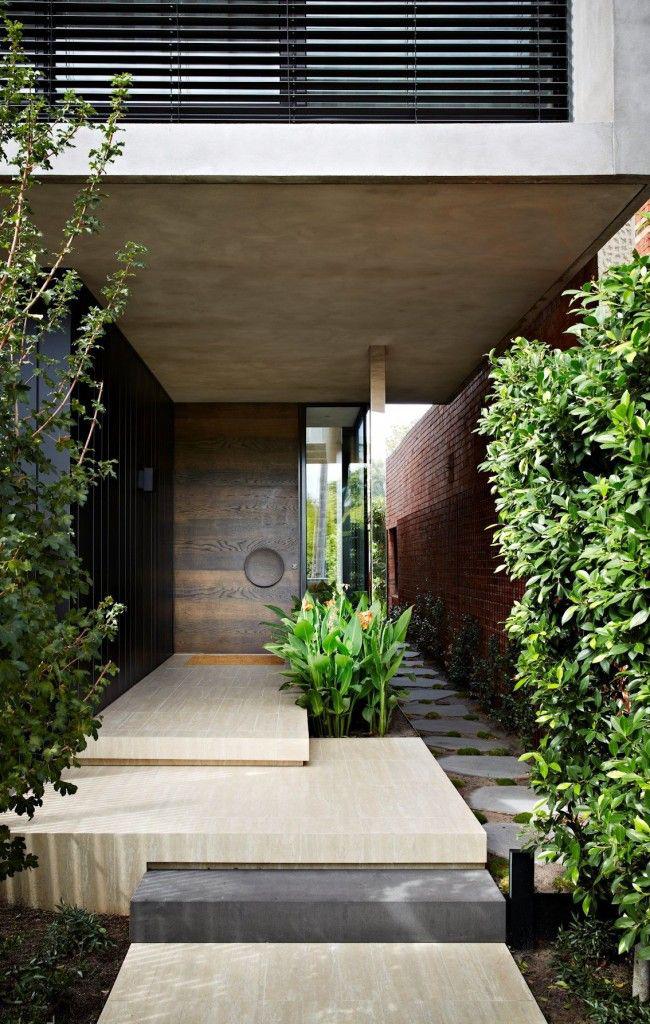 Оригинальное исполнение бетонной лестницы