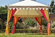 Фото 19 Альтернатива дорогостоящим беседкам: выбираем тент-шатер для дачи