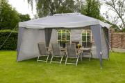 Фото 21 Альтернатива дорогостоящим беседкам: выбираем тент-шатер для дачи