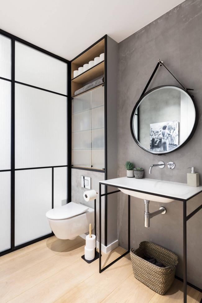 Скандинавский стиль в дизайне туалета