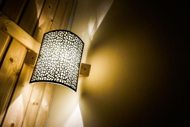 Декоративный светильник для сауны