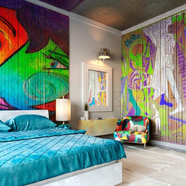 Комната подростка в ярких красках