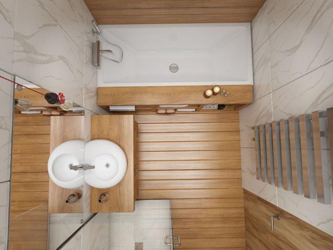 Визуализация пятиметровой ванной комнаты