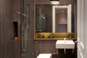 Фото 13 Дизайн ванной комнаты 5 кв. метров: 80+ стильных фотоидей для интерьера маленького санузла