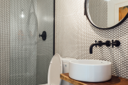 Фото 15 Дизайн ванной комнаты 5 кв. метров: 80+ стильных фотоидей для интерьера маленького санузла