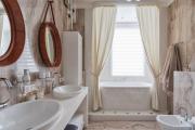 Фото 2 Дизайн ванной комнаты площадью 5 метров: максимум функциональности при минимуме затрат