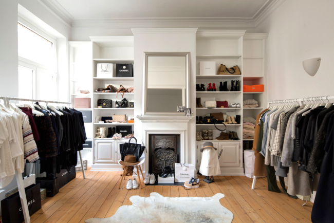 Скандинавский стиль в интерьере гардеробной