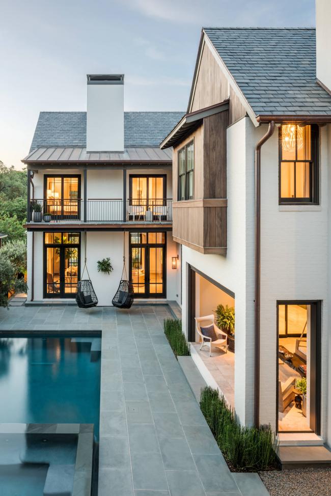 Роскошное загородное имение, оформленное в классическом стиле