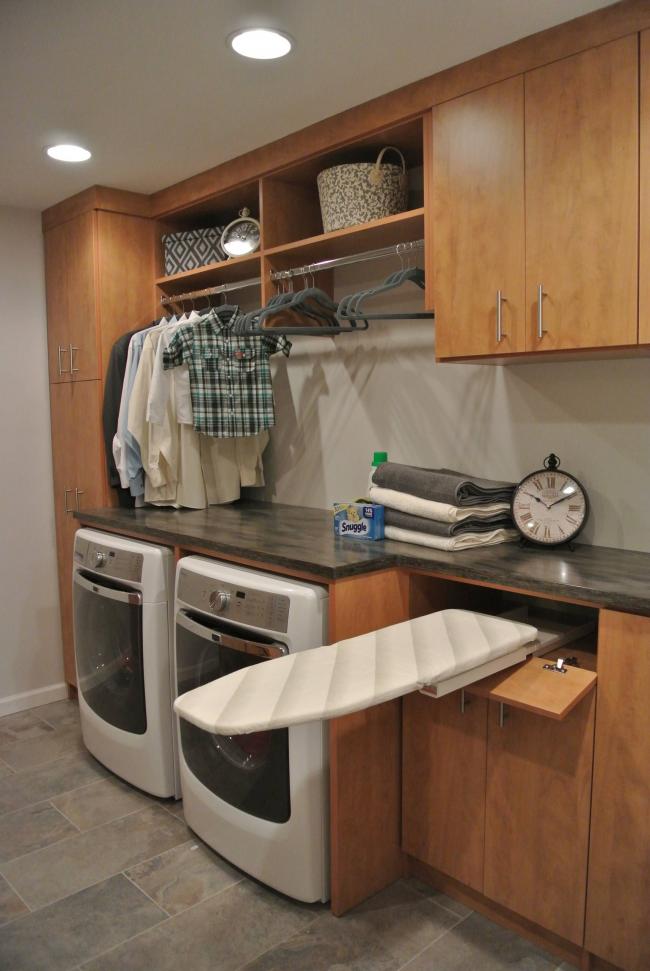 Встроенная гладильная доска - отличный способ сэкономить время и свободное место в квартире