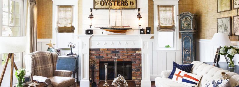 Морской стиль в интерьере (100+ фотоидей): как создать свежий и лаконичный дизайн в духе Хэмингуэя
